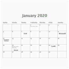 Calendar By Lynette   Wall Calendar 11  X 8 5  (12 Months)   Vga7xn8r8dzv   Www Artscow Com Jan 2020