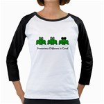 Different is Good - Frog Girly Raglan