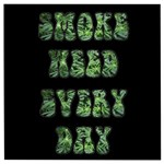 Smoke Weed Every Day c Wooden Puzzle Square