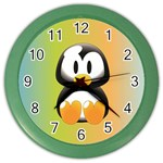 Tux Linux Hacker custom Color Wall Clock