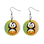 Tux Linux Hacker custom 1  Button Earrings