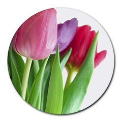 Tulips Round Mousepad by diamondcity