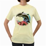 Dolphins Women s Yellow T-Shirt