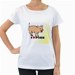 Pigs Maternity White T-Shirt