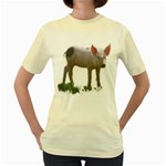 Pigs Women s Yellow T-Shirt