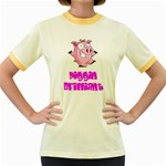 Pigs Women s Fitted Ringer T-Shirt