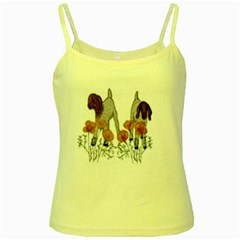 Yellow Spaghetti Tank by fayetteamcreate