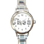 2 dirtcheap index Round Italian Charm Watch