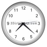 2 dirtcheap index Wall Clock (Silver)