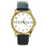 2 dirtcheap index Round Gold Metal Watch