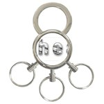 2 dirtcheap index 3-Ring Key Chain