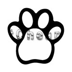 2 dirtcheap index Magnet (Paw Print)