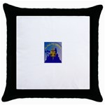 a phi que Throw Pillow Case (Black)