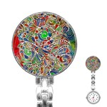 Pop Art - Spirals World 1 Stainless Steel Nurses Watch