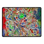 Pop Art - Spirals World 1 Double Sided Fleece Blanket (Small)