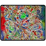 Pop Art - Spirals World 1 Double Sided Fleece Blanket (Medium)