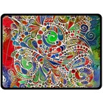 Pop Art - Spirals World 1 Double Sided Fleece Blanket (Large)