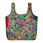 Pop Art - Spirals World 1 Full Print Recycle Bag (L)