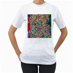 Pop Art - Spirals World 1 Women s T-Shirt (White)