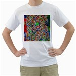 Pop Art - Spirals World 1 Men s T-Shirt (White)