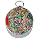 Pop Art - Spirals World 1 Silver Compasses