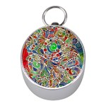 Pop Art - Spirals World 1 Mini Silver Compasses