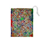 Pop Art - Spirals World 1 Drawstring Pouch (Medium)