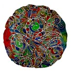 Pop Art - Spirals World 1 Large 18  Premium Flano Round Cushions