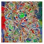 Pop Art - Spirals World 1 Large Satin Scarf (Square)