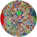 Pop Art - Spirals World 1 Wooden Puzzle Round