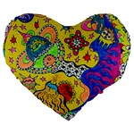 Supersonicplanet2020 Large 19  Premium Flano Heart Shape Cushions