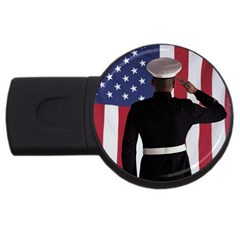 flag USB Flash Drive Round (1 GB) by FayetteamShops