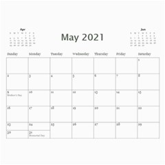 2021 Calendar Mix By Lisa Minor May 2021