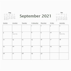 2021 Calendar Mix By Lisa Minor Sep 2021