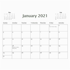 2021 Calendar Mix By Lisa Minor Jan 2021
