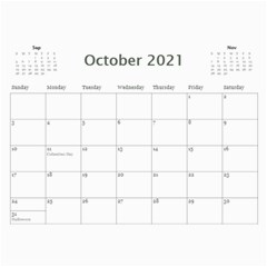 2021 Calendar Mix By Lisa Minor Oct 2021