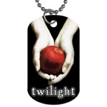 Twilight Apple In Hand Dog Tag (Two Sides)
