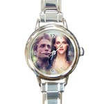 Twilight Edard & Bella Round Italian Charm Watch
