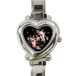 Twilight Edward & Bella Heart Italian Charm Watch