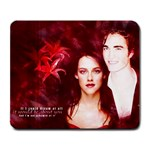 Twilight Red Flower Large Mousepad