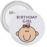 Birthday Girl 3  Button