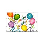 Happy Birthday Sticker Rectangular (100 pack)