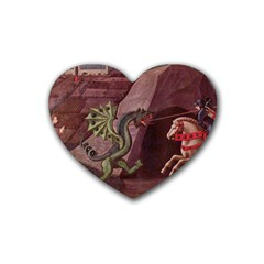 Paolo_Uccello_050 Rubber Coaster (Heart) from ArtsNow.com Front