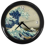 Great_Wave_off_Kanagawa2 -2 Wall Clock (Black)