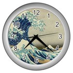 Great_Wave_off_Kanagawa2 -2 Wall Clock (Silver)