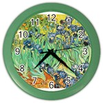 Irises,_1889,_Vincent_Van_Gogh Color Wall Clock