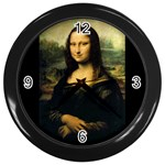 Mona_Lisa Wall Clock (Black)