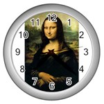 Mona_Lisa Wall Clock (Silver)