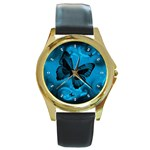 47064omv5mnckcw Round Gold Metal Watch