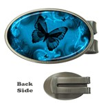 Butterfly Grunge Money Clip (Oval)